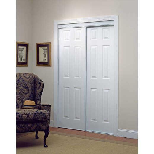 Erias 106 Series 47 In. W. x 80-1/2 In. H. White Vinyl Clad 6-Panel Bypass Door