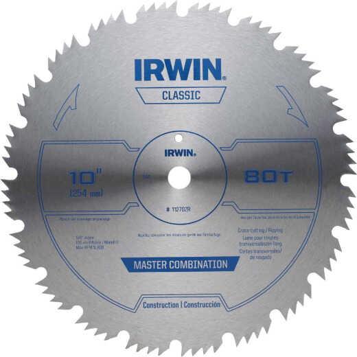 Irwin Steel 10 In. 80-Tooth Ripping/Crosscutting Circular Saw Blade