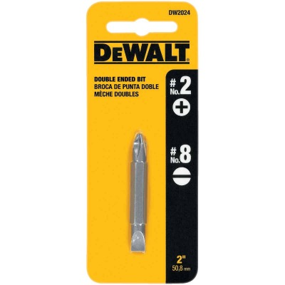 DeWalt Phillips #2 Slotted Double-End Screwdriver Bit