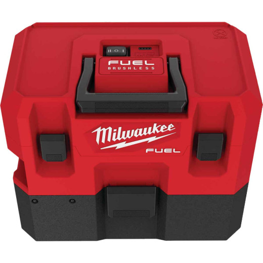 Milwaukee M12 FUEL 12 Volt Lithium-Ion Brushless Cordless 1.6 Gal. Wet/Dry Vacuum (Bare Tool)