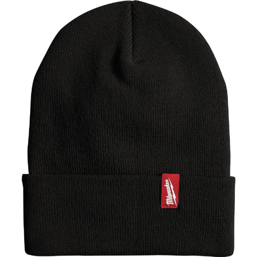 Milwaukee Black Cuffed Beanie Acrylic Sock Cap