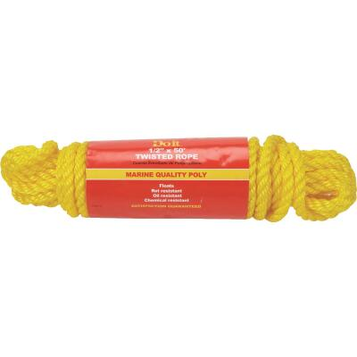 Do it 1/2 In. x 50 Ft. Yellow Twisted Polypropylene Packaged Rope