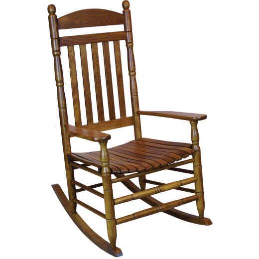 Hinkle Chair Company Cumberland 250 Flag Slat Maple Wood Rocking Chair, Assembled