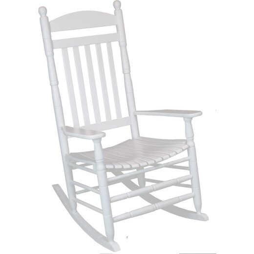 Hinkle Chair Company Cumberland 250 Flag Slat White Wood Rocking Chair, Assembled