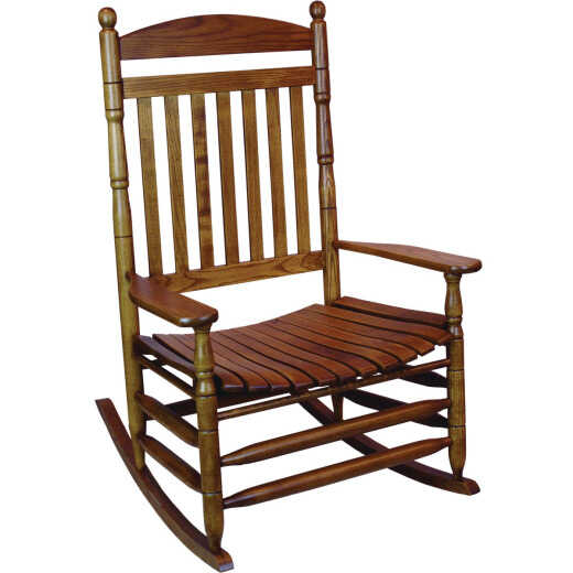 Hinkle Chair Company Cumberland 1250 Slat Maple Wood Jumbo Rocking Chair, Assembled